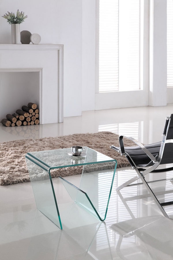ANGLED GLASS MEDIA SIDE TABLE