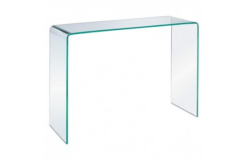 Glass console table white background