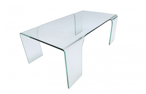 GLASS COFFEE TABLE ON 4 LEGS