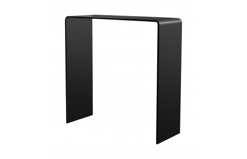 BLACK GLASS CONSOLE TABLE SMALL