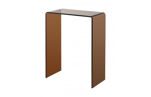 SMOKED BROWN GLASS CONSOLE TABLE EXTRA SMALL