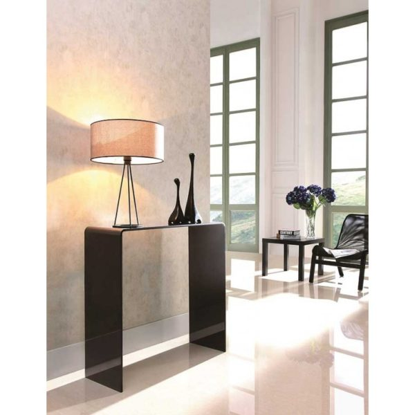 Black glass console table - Glass Tables Online
