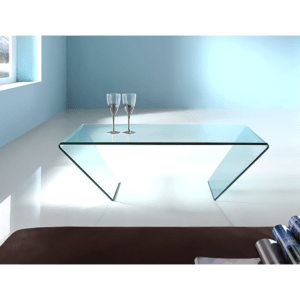 Angled Glass Coffee Table
