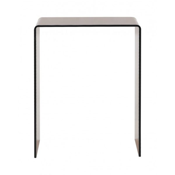 Smoked brown glass extra small console table - Glass Tables Online
