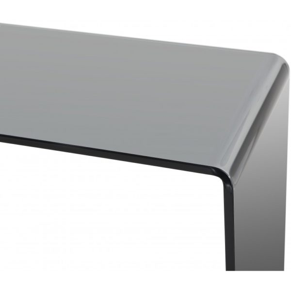 Smoked glass extra small console table - Glass Tables Online