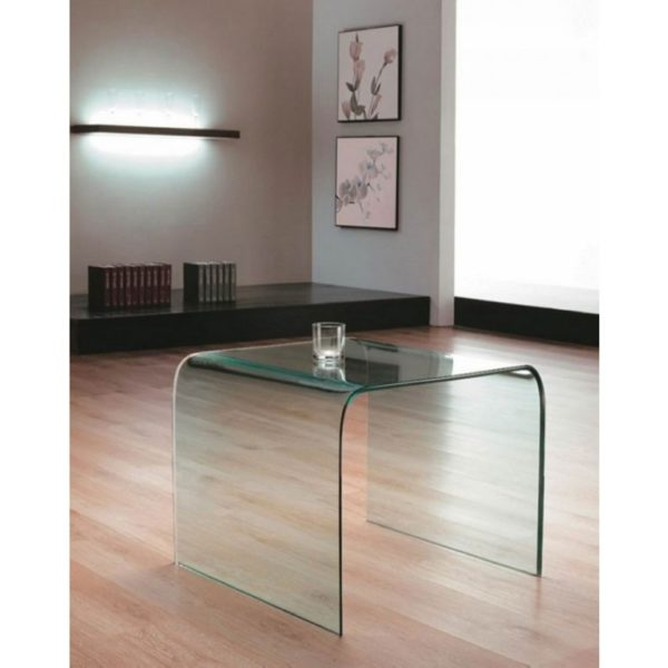 clear glass side table - Glass Tables Online