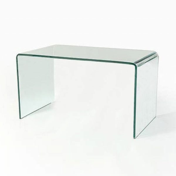 Clear glass large coffee table