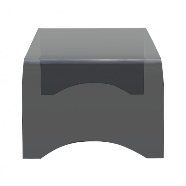 Smoked grey glass small coffee table