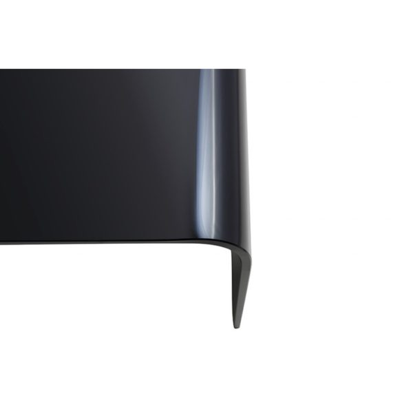 long black glass nested curved tables