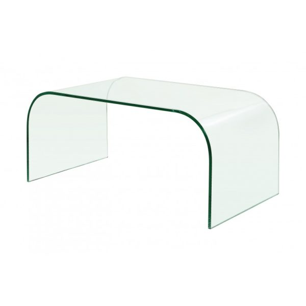 clear glass extra curved coffee table