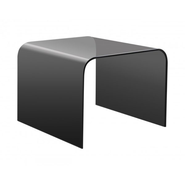 Smoked grey glass side table - Glass Tables Online