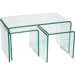 Long Clear Glass Nested tables