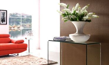 Clear glass console table - Glass Tables Online