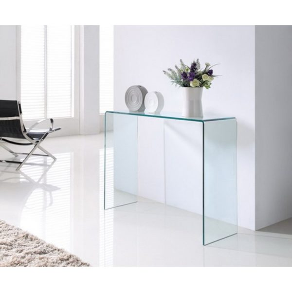 extra large clear glass console table - Glass Tables Online