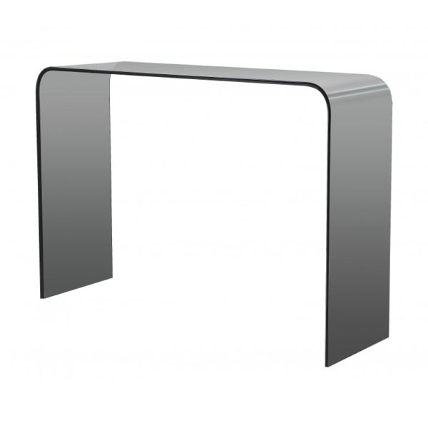 Smoked grey glass console table - Glass Tables Online