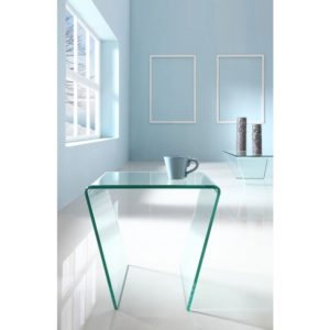 Angled Glass Side Table