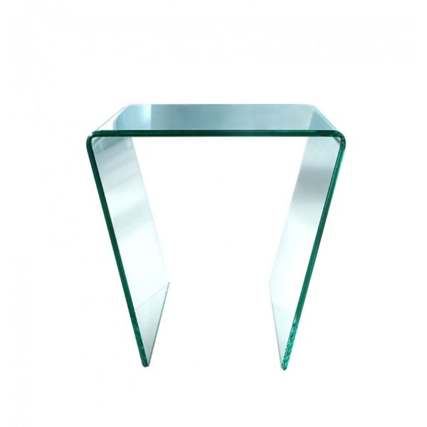angled-glass-side-table - Glass Tables Online