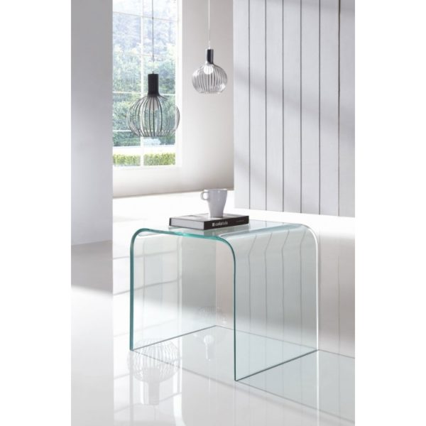 GLASS SIDE TABLE - LIVING