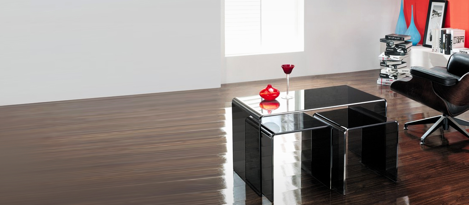 large nested smoked glass tables - Glass Tables Online